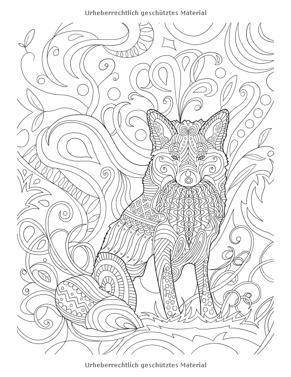 Fox Coloring Page Cute Ideas Pinterest Ausmalbilder
