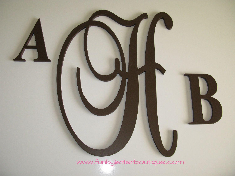 Custom Fancy Monogram Wooden Letters Home Decor Children S Nursery 139 99 Via Etsy