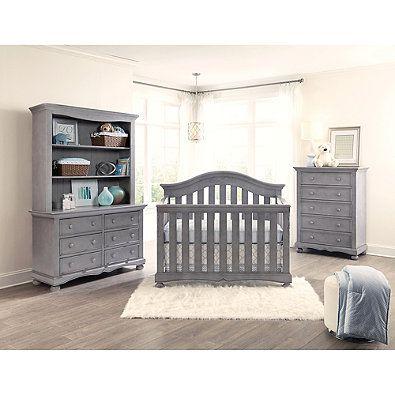 Westwood Design Meadowdale Wood 4 In 1 Convertible Crib In Cloud Westwood Furniture Cribs Convertible Crib