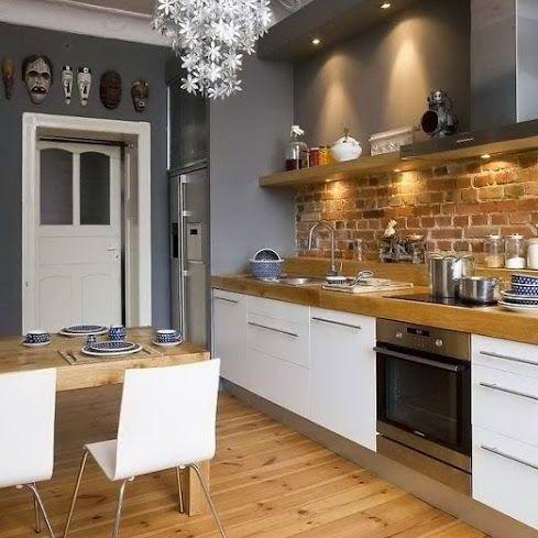 Acierta con una cocina blanca y gris