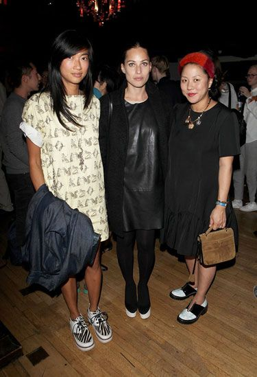 Mimi Xu, Anna Laub and Carol Lim at the Liberty + Kenzo Party with Purple Magazine and Belvedere Vodka #lfw #voltafootwear