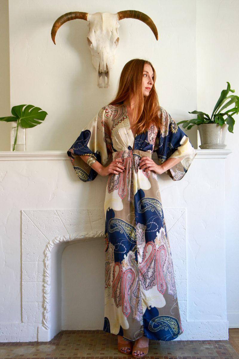 Jagger Kimono Maxi Dress    Medium    $50