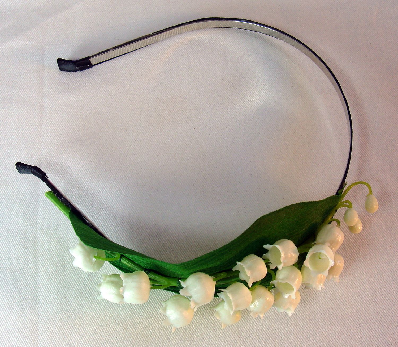 Lily Of The Valley Bridal Headband by BeadazzledBySharon on Etsy 2a13c805b4d