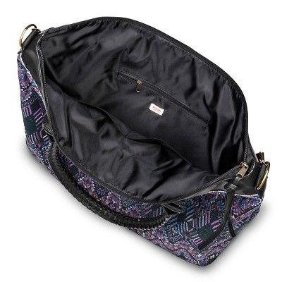 Abstract Print Weekender Handbag Purple - Mossimo Supply Co.,