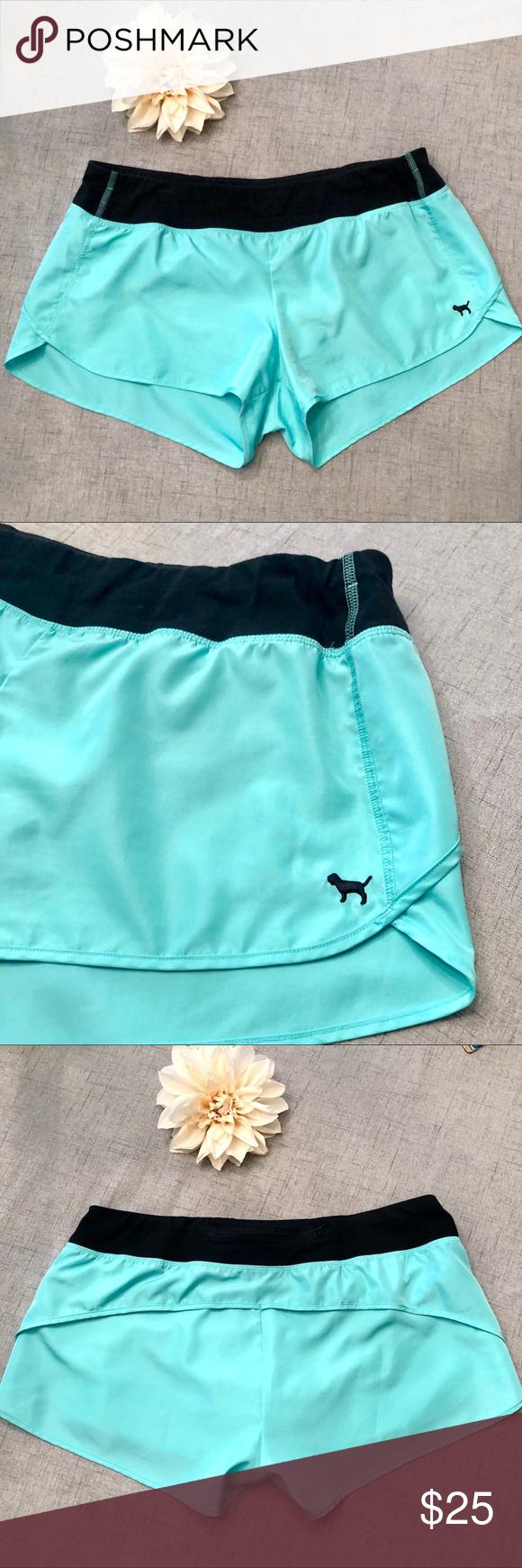 Victoria Secret Pink Mint Green Gym Shorts Clothes