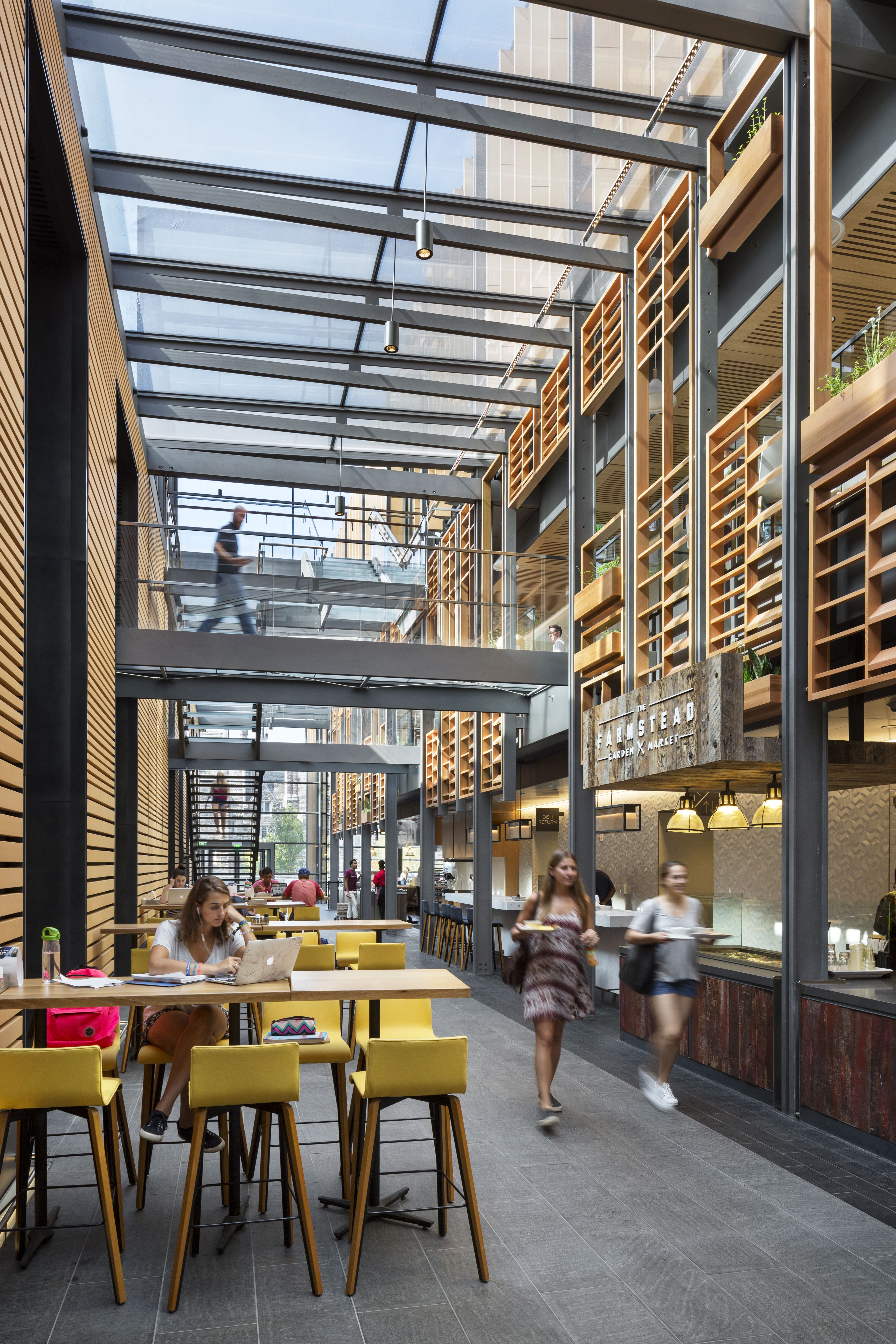 Striking Glass Atrium Updates Historic Student Union At
