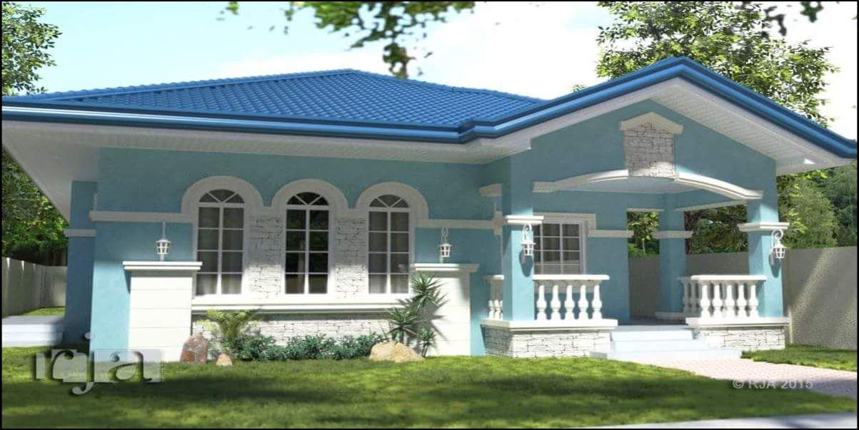 Bungalow House Design With Terrace Philippines House Design Simple House Exterior Design Simple House Exterior