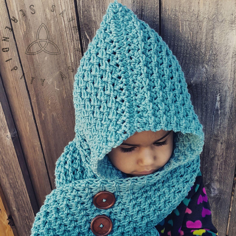 Crochet Scoodie PATTERN | Crochet Pattern Hooded Scarf ...