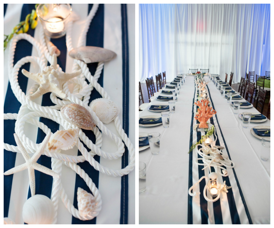 Nautical Decor Centerpieces: St. Petersburg Waterfront Wedding Round Up