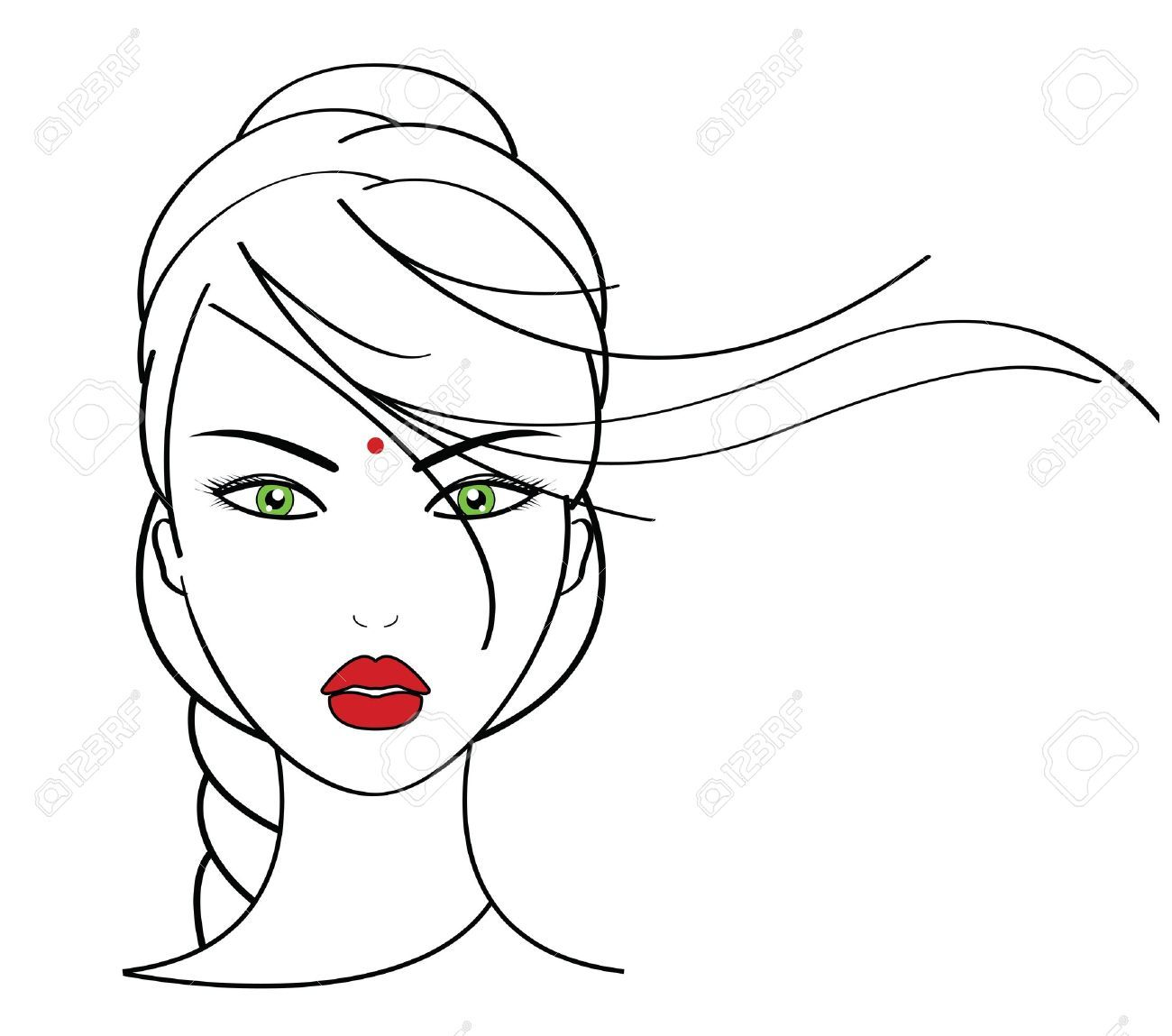 Line Drawing Face Earrings : Makeup artist stock vector illustration and royalty free