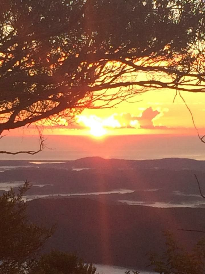 View from Mt. Warning at sunrise. Anzac Day 25th April 2015.  100 year anniversary of Gallipoli.