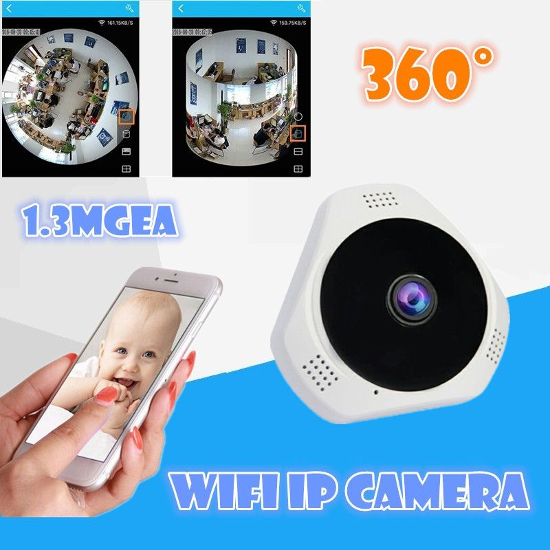 VR 360 panoramic record ip wireless camera wifi for smart