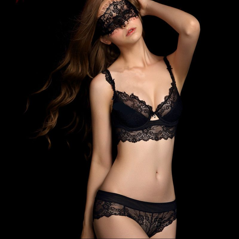 French high end brand sexy T pants romantic temptation lace bra set