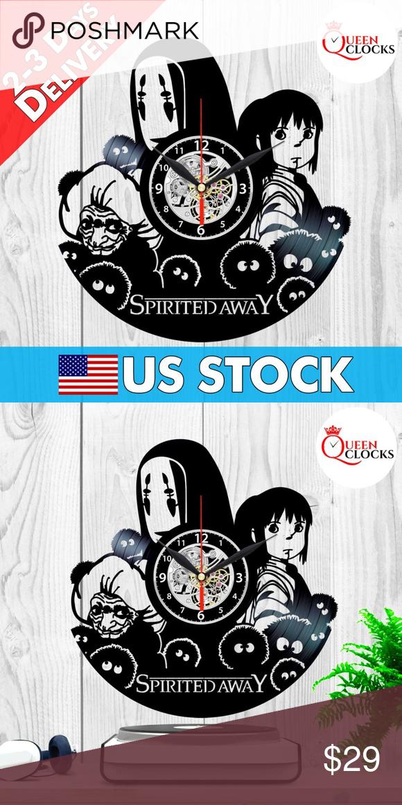 Studio Ghibli Wall Clock Decor Spirited Away Gifts Clock Decor Clock Wall Decor Vinyl Gifts