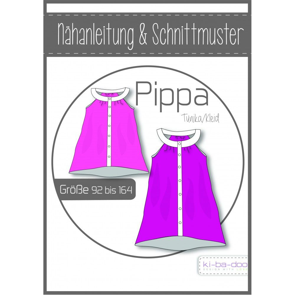 ki-ba-doo - Schnittmuster - Pippa - Tunika-Kleid mit Rundpasse ...