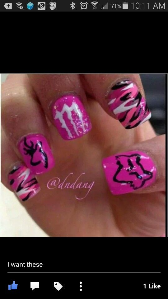 Nails fox monster country | Nails | Pinterest | Foxes and Makeup
