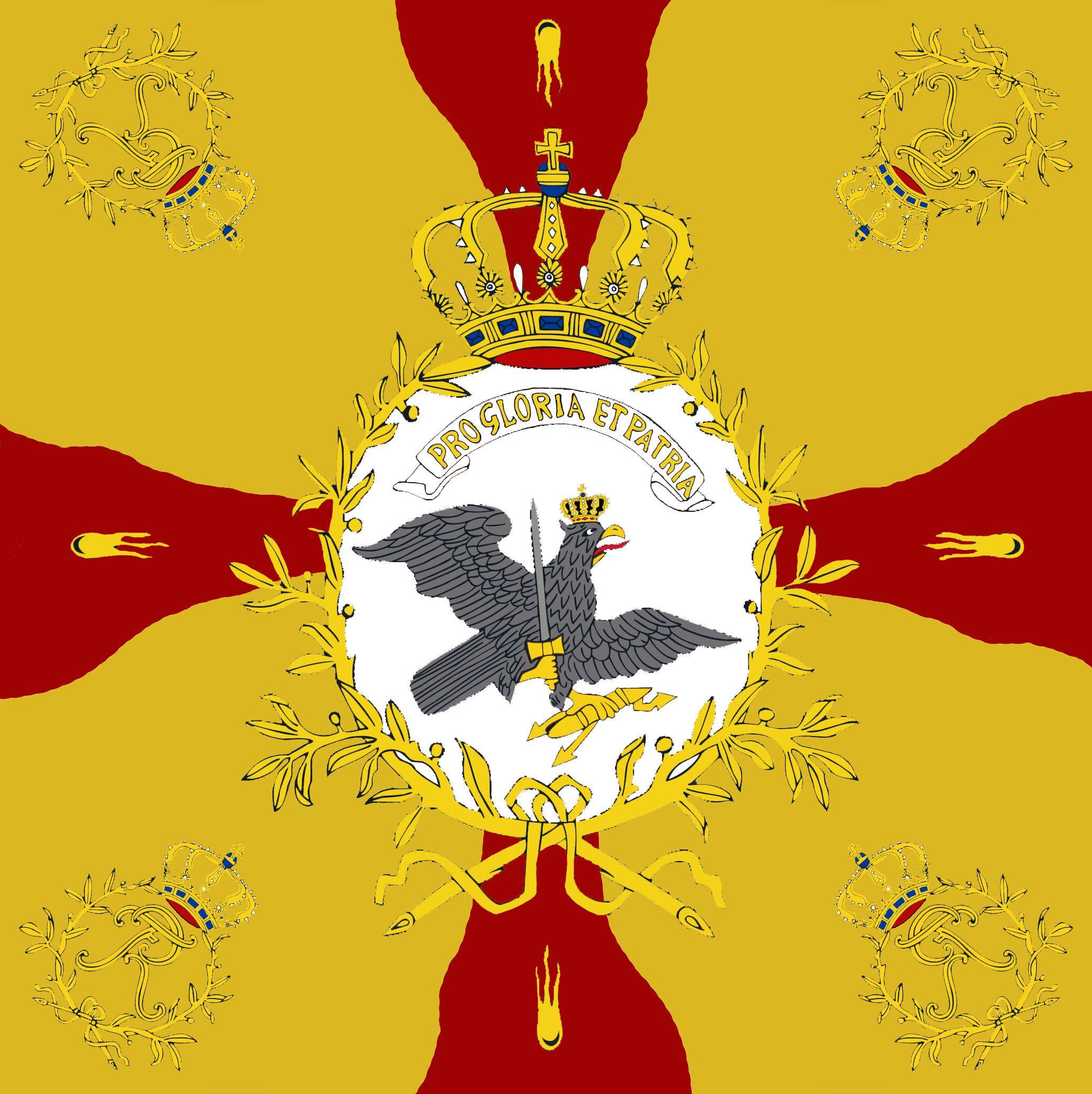 "Bandiera  di guerra del 5 rgt. fanteria  prussiana ""von Braunschweig""."