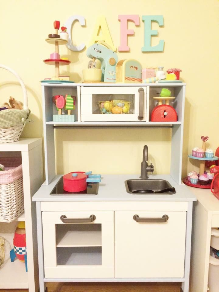 Ikea Play Kitchen Makeovers - Oh So Busy Mum | Styling play area ...