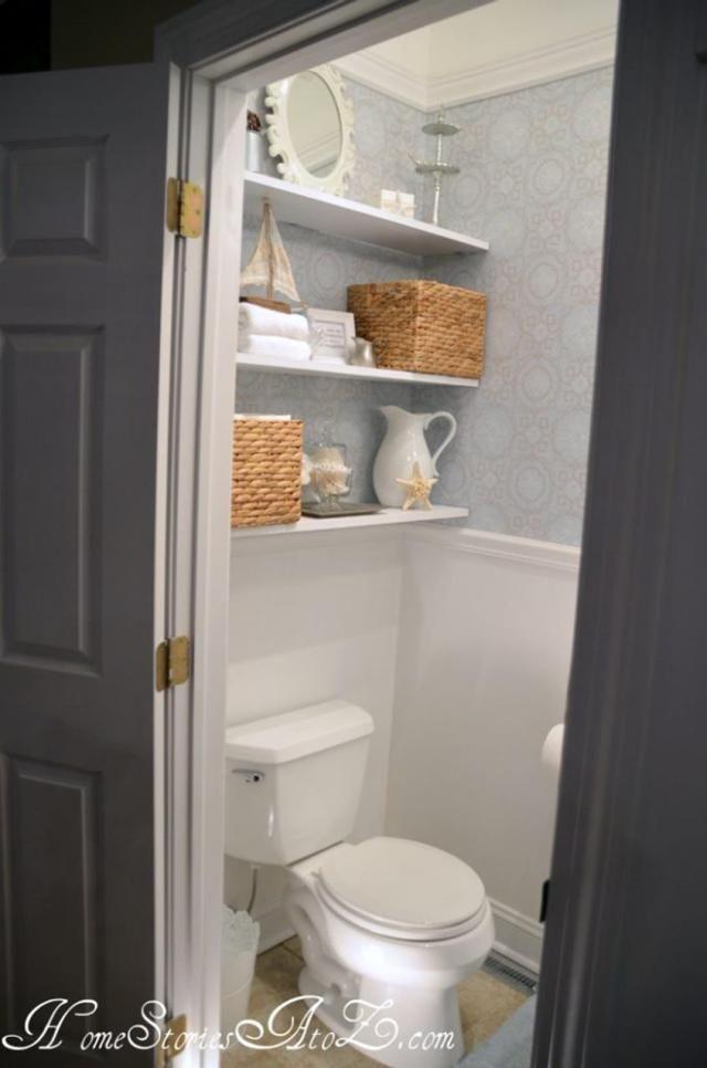 48 Adorable Tidy Powder Room Storage Solutions Design