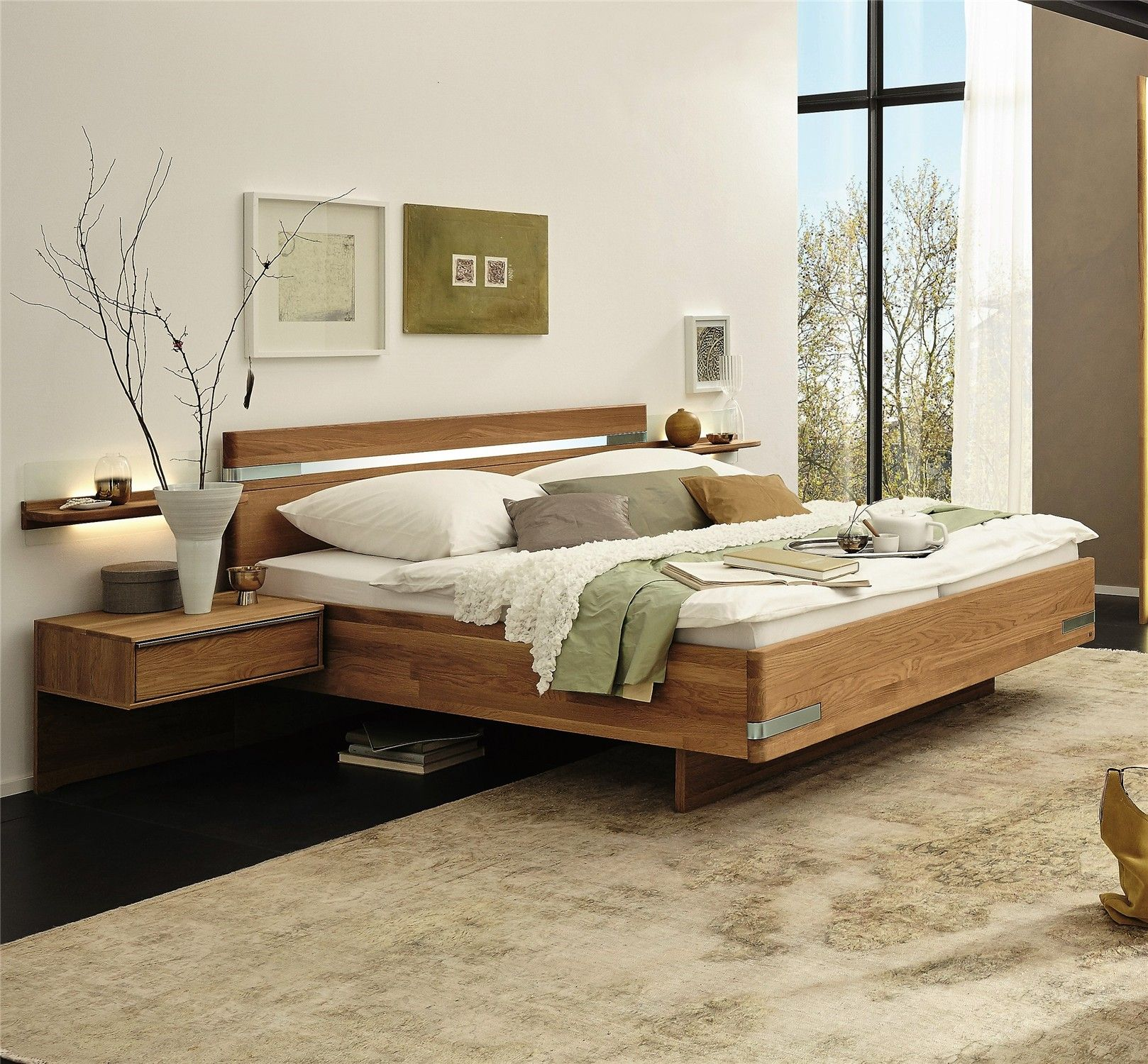 Stylform pegasus semi solid oak modern bed solid oak pegasus and