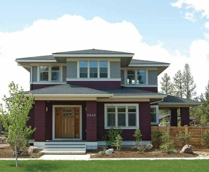 Prairie Style House Plans Craftsman Home Collection Eplans Designs From