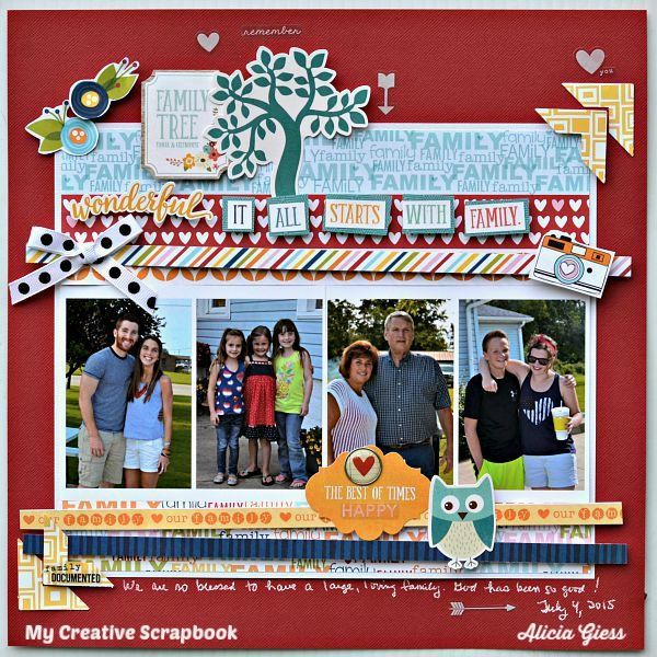 It all starts with family - The creative kit from My Creative Scrapbook for October 2015