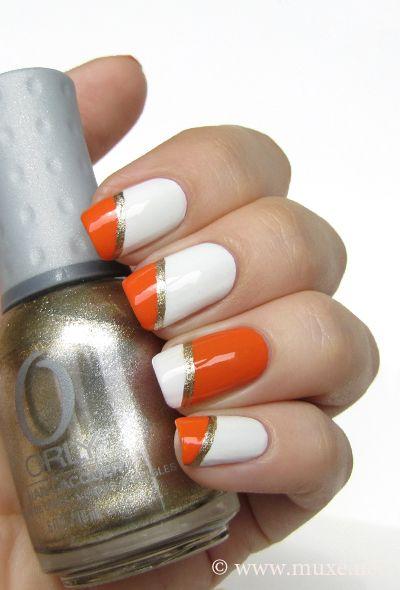 Nail Polish Reviews Nail Art And More Orange Nail Art Orange Nails White Nails