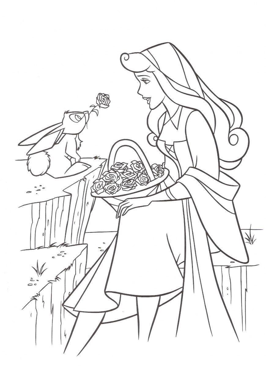 Dibujos para colorear - Disney | La belle au boit dormant ...