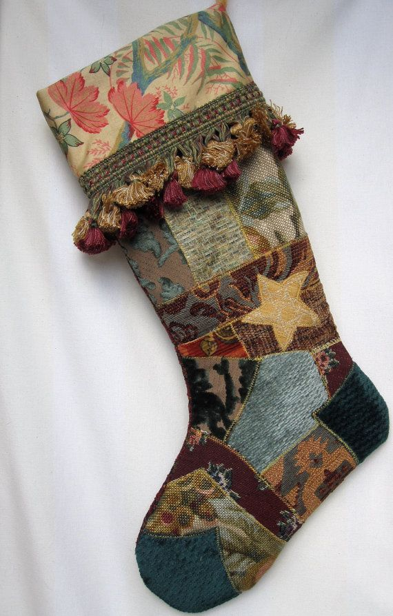 Victorian Christmas Stockings.Victorian Christmas Stockings Victorian Crazy Quilt