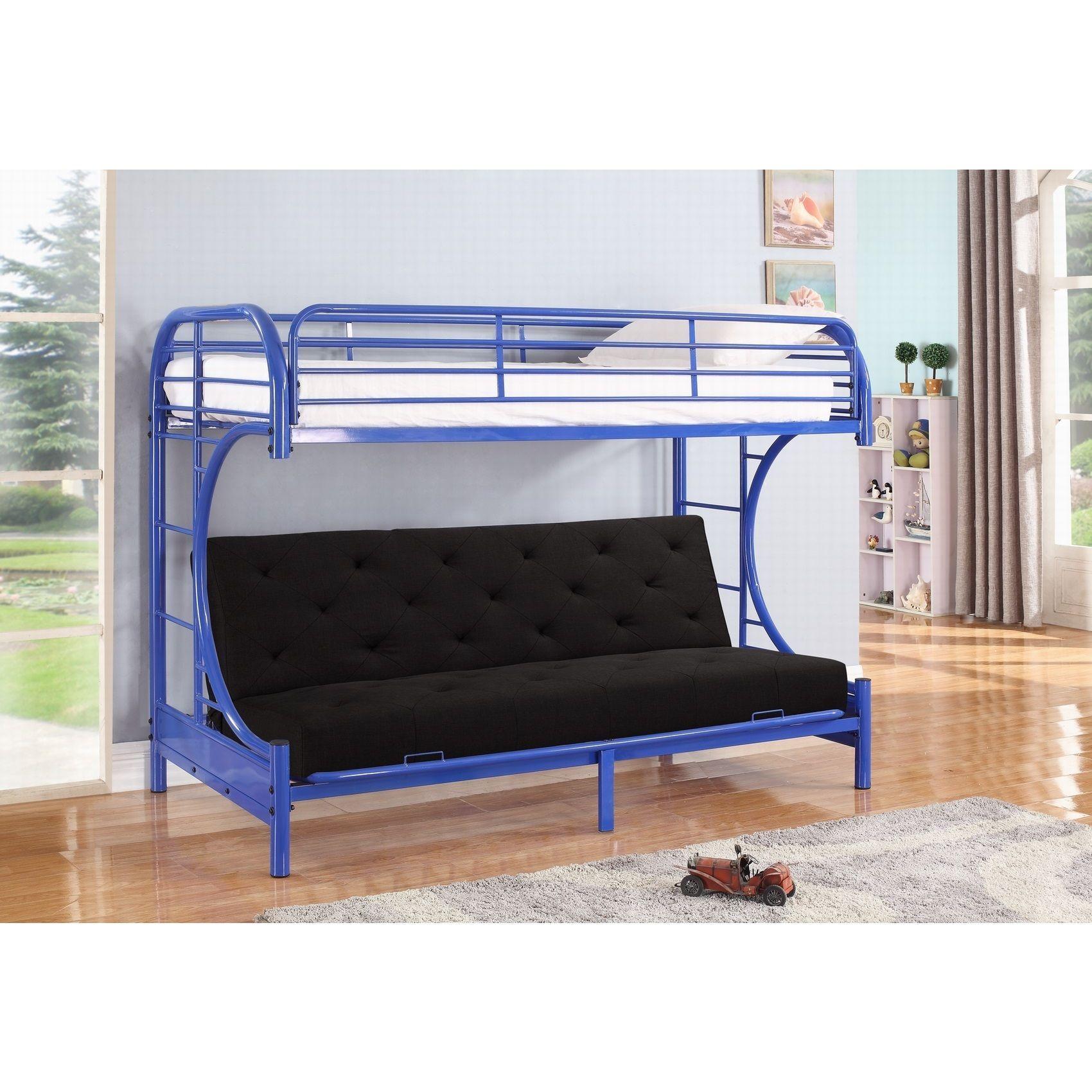 jordan twin c shaped blue metal futon and bunkbed  bo by nathaniel home  jordan jordan twin c shaped blue metal futon and bunkbed  bo by      rh   pinterest