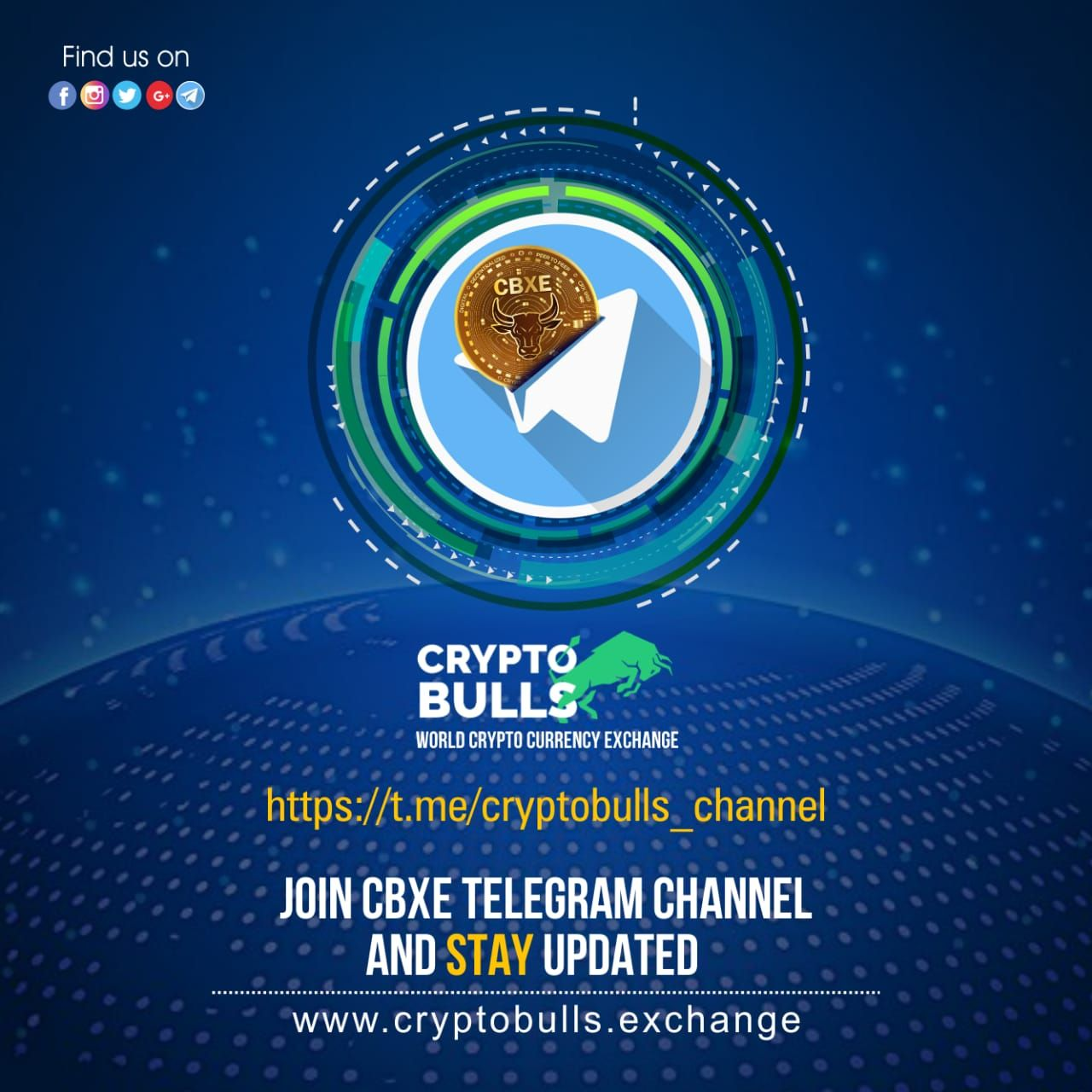 Join #CBXE #Telegram Channel and Stay Updated @cryptobullsexchange