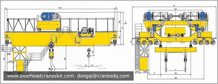 Four Girder Ladle Crane Sketch Steel Plate It Cast Crane