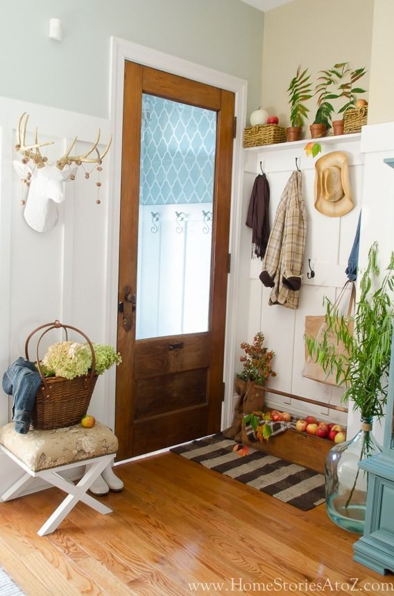 Fall Mudroom Entryway | Mudroom, Decorating and Foyers