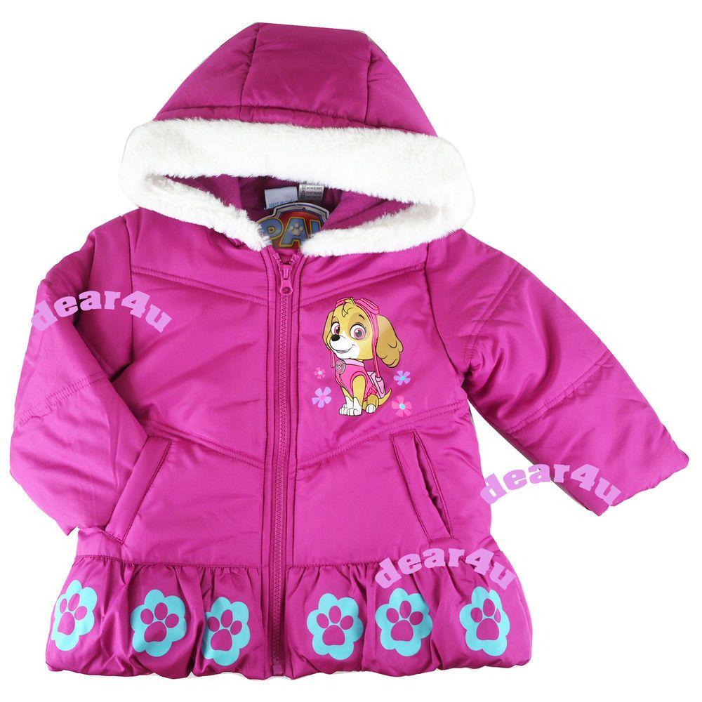 acaba3665 Paw Patrol skye girls winterwarm jacket coat hoodie jackets cloth ...