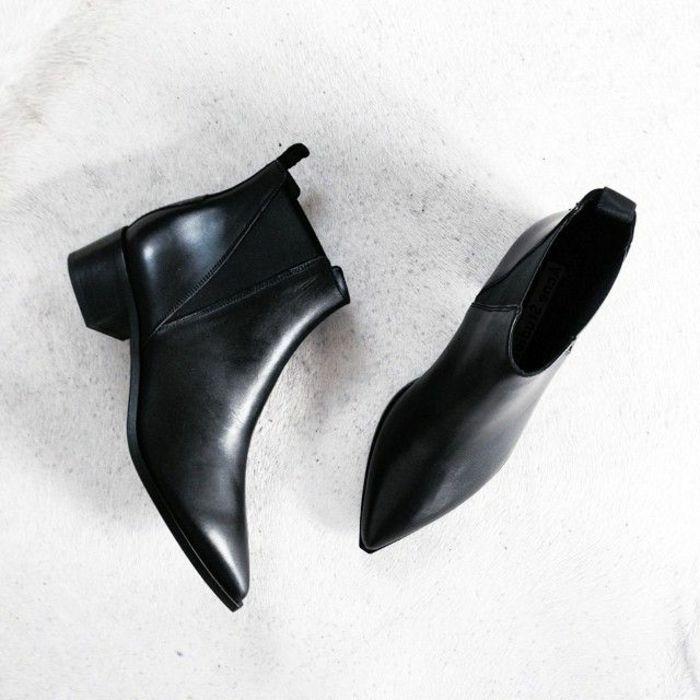 e258569d367c57 minelli chaussures noires pour la femme moderne , tendances de la mode  hiver 2016