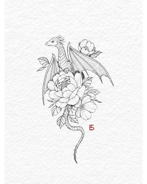 "Tattoo Artist • Ella on Instagram: ""Inktober day 12 -"" dragon ""All me"