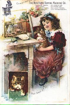 THE NEW HOME SEWING MACHINE CO. vintage advertising card