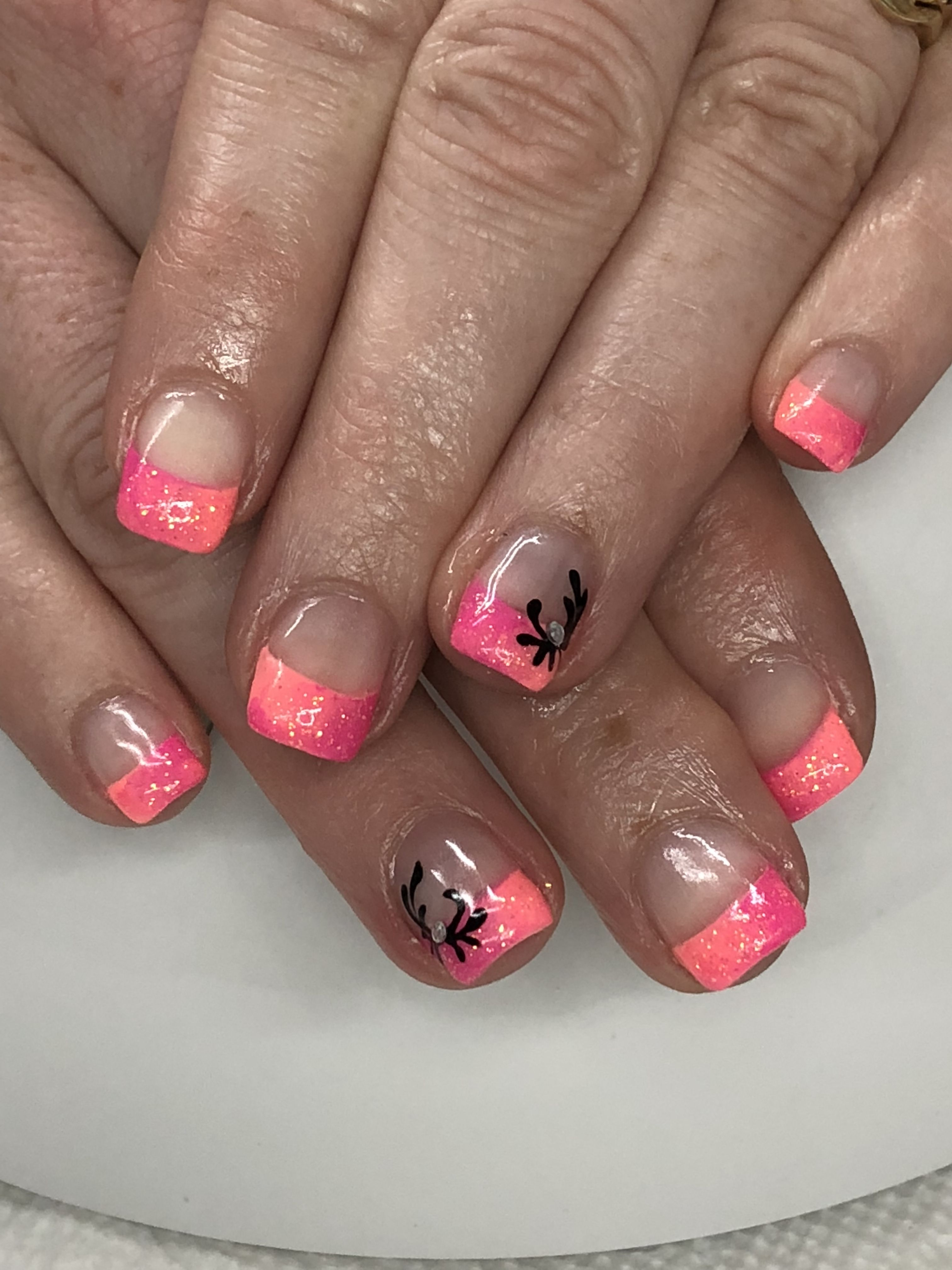 Summer Coral Pink French Ombre Gel Nails Light Elegance Tailgator