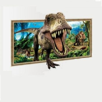 XH D Wall Stickers Cartoon Dinosaur Wall Decals Printed - 3d dinosaur wall decalsd cartoon dinosaur wall stickers art decal mural home room