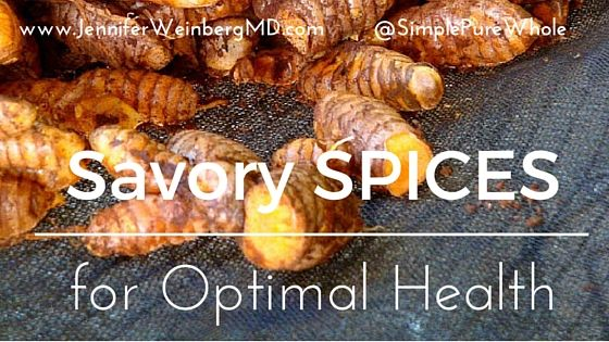 Since early history, humans have utilized #herbs and #spices to preserve and flavor their food as well as for their medicinal properties. We are biochemically drawn to certain flavors which tantalize our taste buds and balance our bodies. Modern science has confirmed that herbs and spices don't just boost flavor, they also support optimal health. Learn about my favorites and how to incorporate them into your life! #glutenfree #vegan www.JenniferWeinbergMD.com