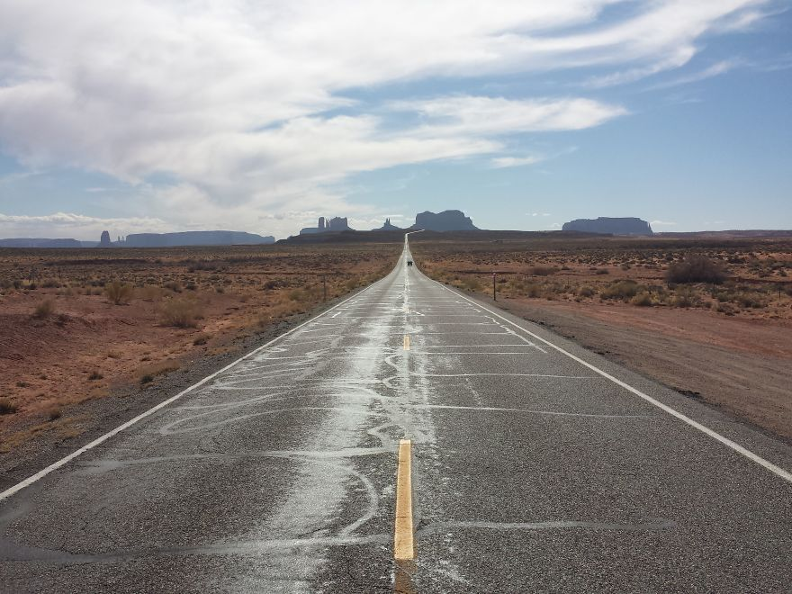 The Most Wonderful Roads In The World #utahusa Road 163 Towards The Monument Valley National Park, Utah, Usa #utahusa