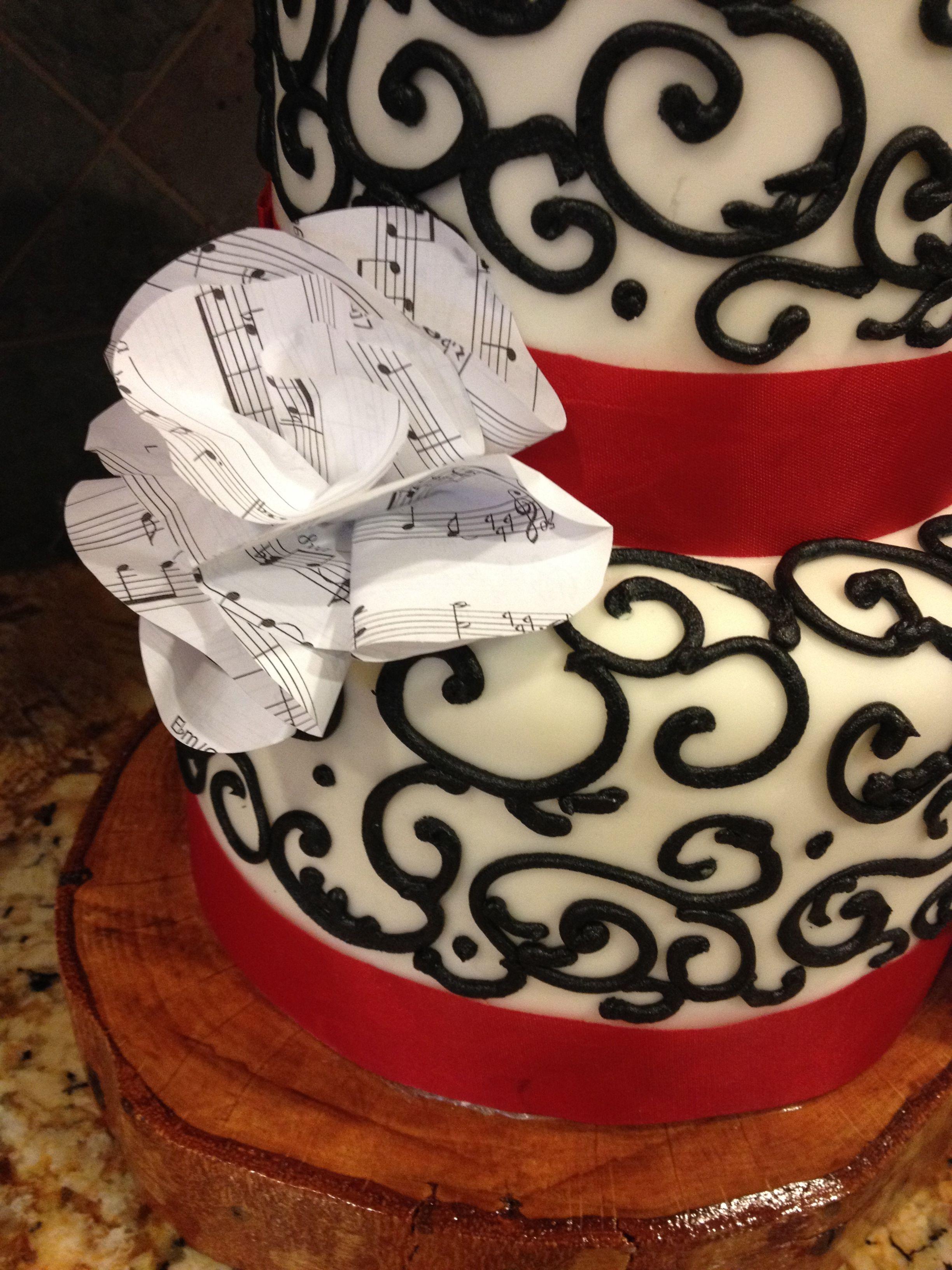 Music Note Birthday Cake By Daisysweddingcakes Daisycakes