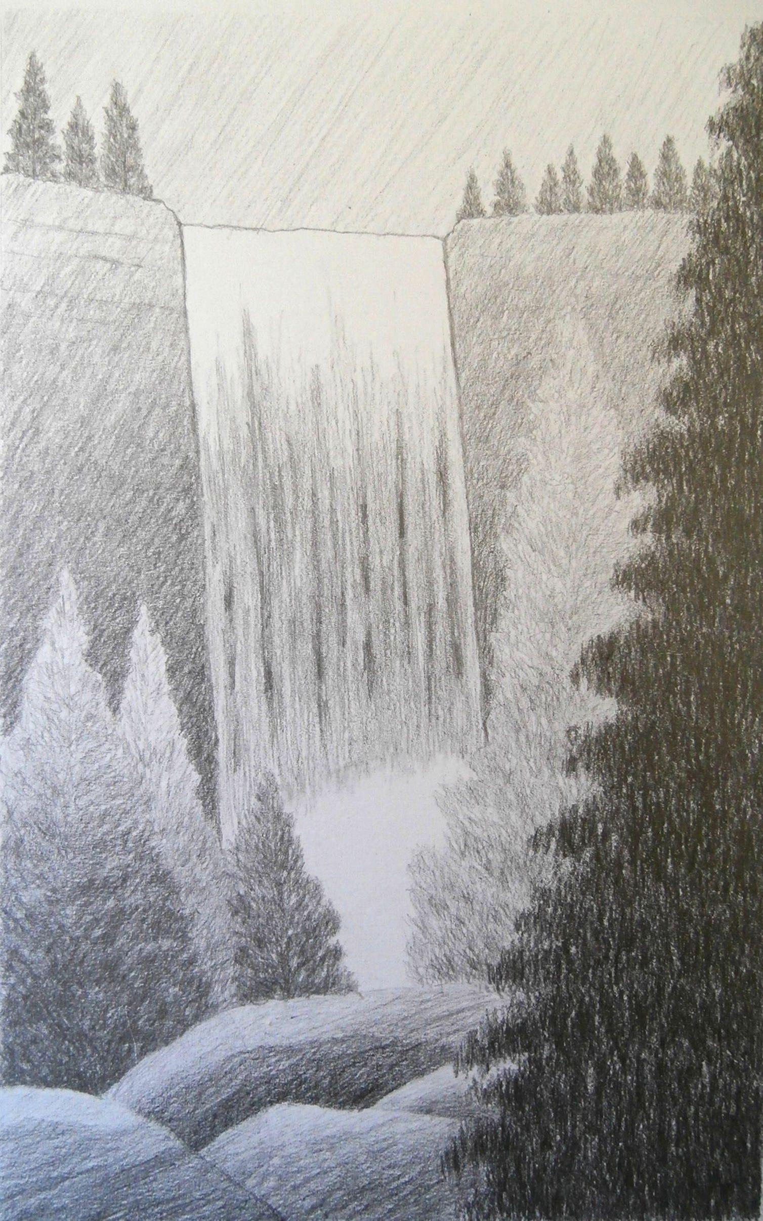 768959fe139405cee4af01b23c8bd0b1 » Realistic Pencil Waterfall
