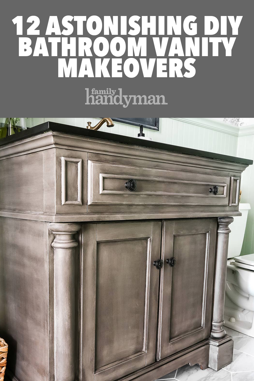 12 Astonishing DIY Bathroom Vanity Makeovers