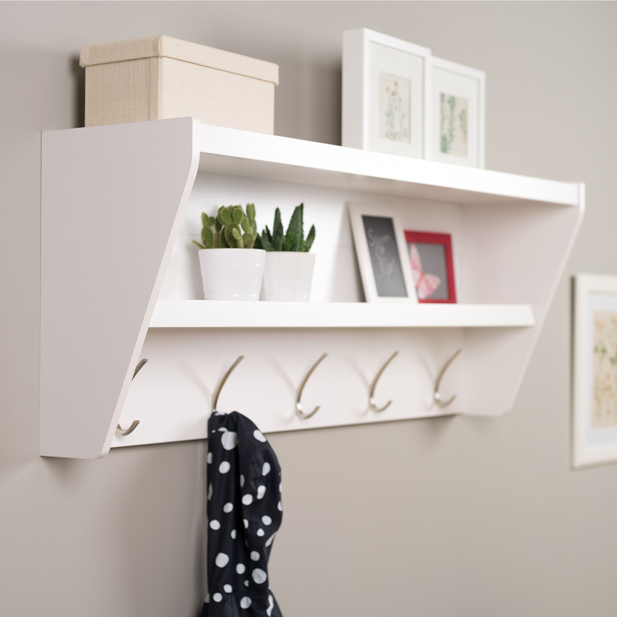 Image Result For Unique Wall Mounted Entryway Coat Rack With Storage Cubbies And Shelves
