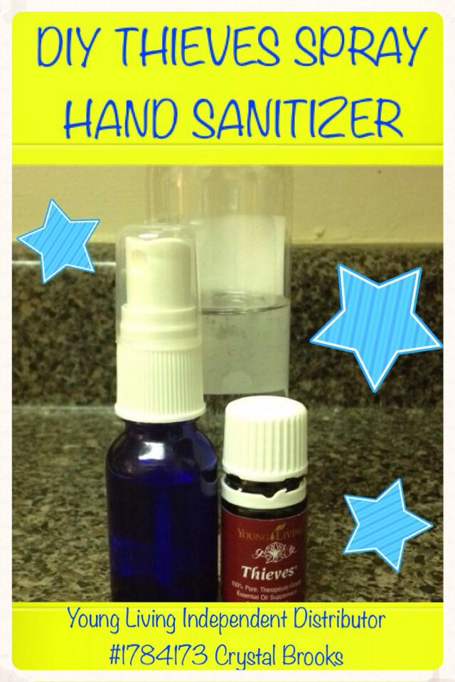Diy Thieves Spray Hand Sanitizer I Simply Filled A 15ml Spray