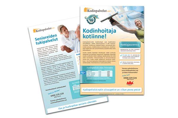 Kodinpalvelut.net / MONIVERSO-yhteistyö: Esitteitä, lehti-ilmoituksia, kotisivuilme