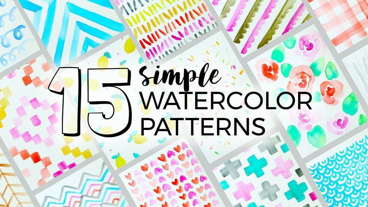 15 Simple Watercolor Patterns To Paint Sea Lemon Watercolor