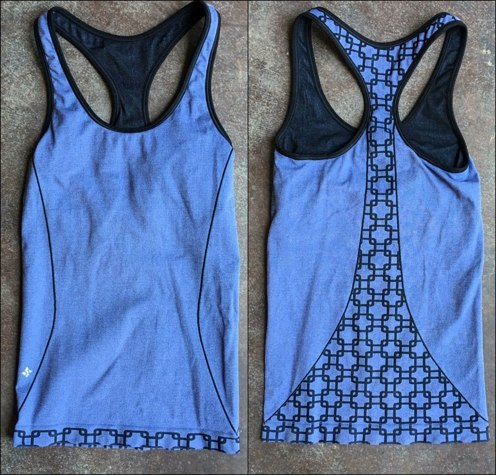 9b5d53b6d3eaa NUX Square Up Racer Back Tank Yoga Top with Built in Bra - Euc!  Nux   ShirtsTops