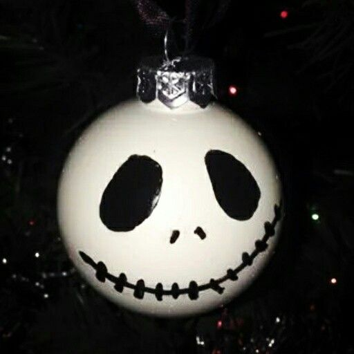Hand painted jack ornament
